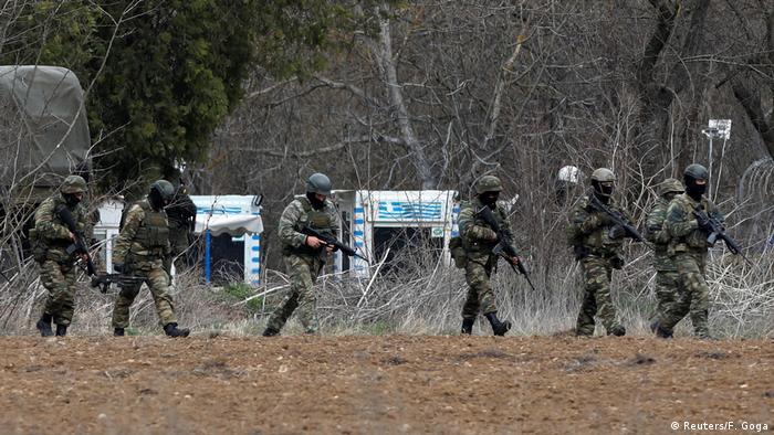Grčki vojnici uz granicu