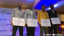 Nairobi, Thursday 27 February 2020+++Mabati Cornell Awards Winners 2020 Rashid Othman Ali, second winner Ushairi ( Mji wa Kambare). Lello Mmasy, Winner of Riwaya ( Mimi na Rais) Mohammed Khamis Songoro, Winner Ushairi (Nusu ya Moyo)., John Wanyama, second winner Ushairi (Safari ya Matumaini). (c) DW/Thelma Mwadzaya