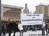 Демонстрация против неонацистов в Дрездене