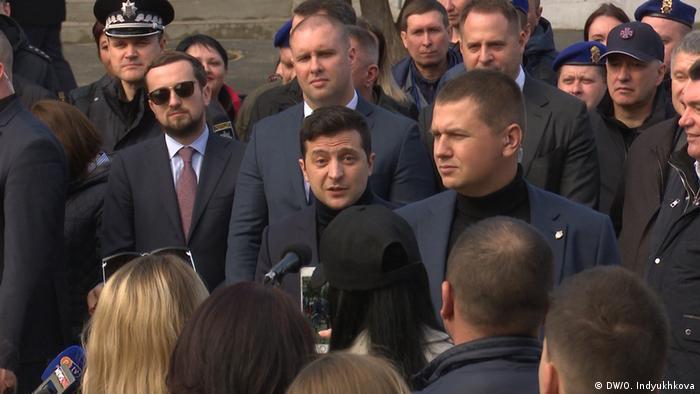 Президент Владимир Зеленский в Новых Санжарах