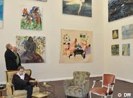 Один из залов с выставками студенческих работ в Дюссельдорфской академии художеств