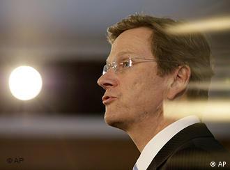 Ministro liberal-democrata alemão Guido Westerwelle
