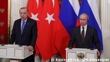 Moskau PK Erdogan - Putin zu Syrien