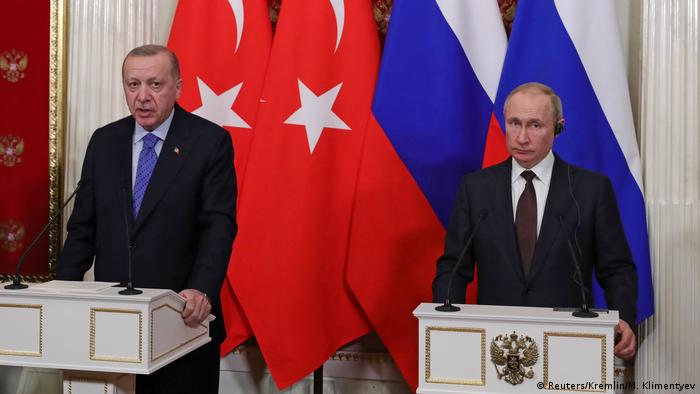 Президенты Турции и России Реджеп Тайип Эрдоган и Владимир Путин, 5 марта 2020 года