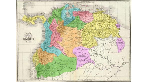 Karte Gran Colombia