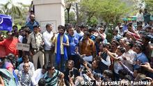 Indien Protest der unteren Dalit-Kaste