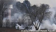 Griechenland Grenze Evros-Fluss Polizei schießt Tränengas