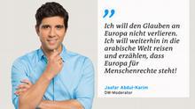 Zitattafel Jaafar Abdul-Karim Europa Menschenrechte