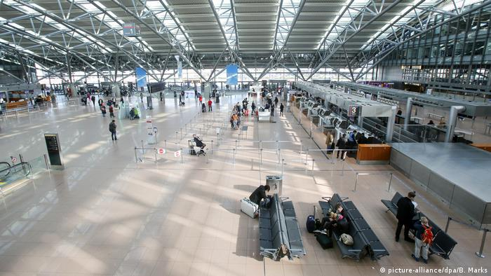 Hamburg's mostly empty airport