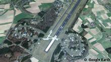 April 2019, Luftaufnahme des Luftwaffenstützpunkts Büchel in Rheinland-Pfalz