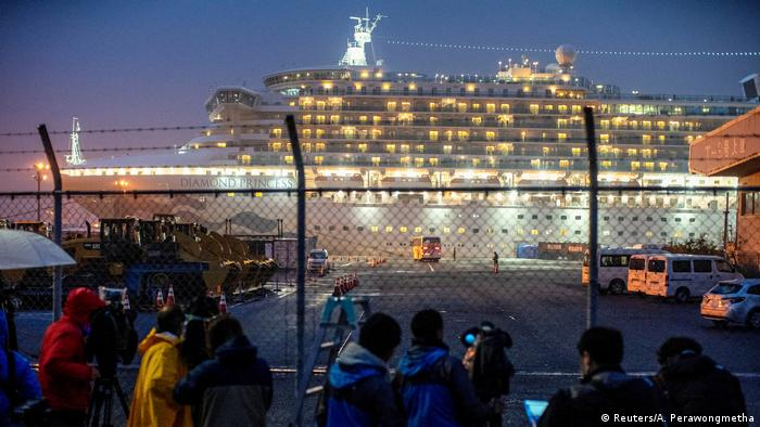 The Diamond Princess in Yokohama port