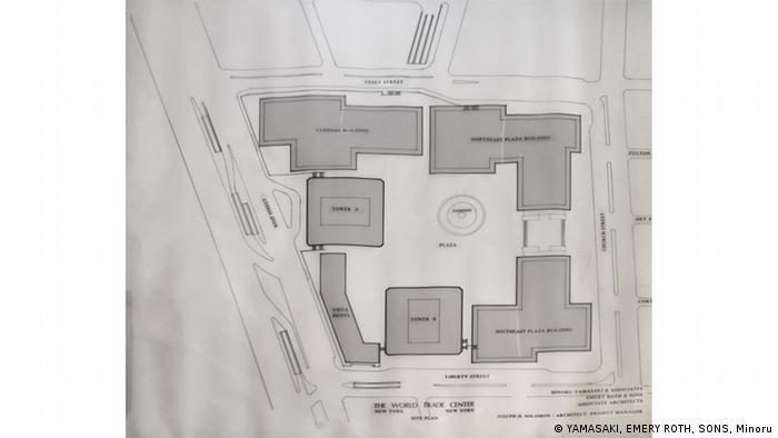 Plan of the World Trade Center complex (YAMASAKI, EMERY ROTH, SONS, Minoru)