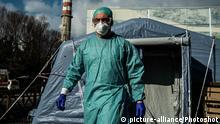 Italien Coronavirus COVID-19 Vorsichtsmaßnahmen in Spedali Civili