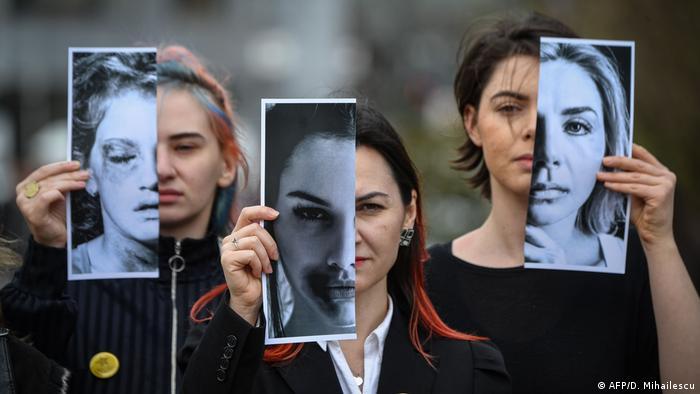 BdTD Rumänien Bukarest Protest gegen Gewalt an Frauen