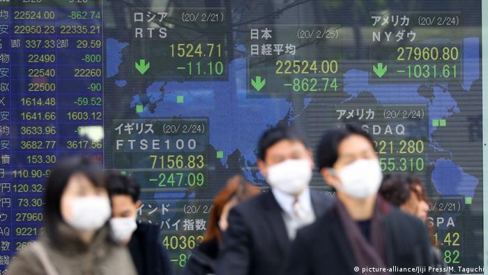 Japan Tokio Kursrückgänge an den Börsen