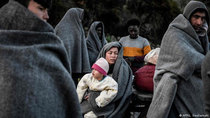 اللاجئون على الحدود التركية-اليونانية