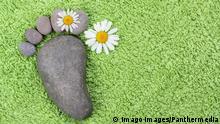 Symbolbild ökologischer Fußabdruck
