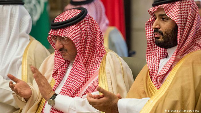 محمد بن سلمان ومحمد بن نايف