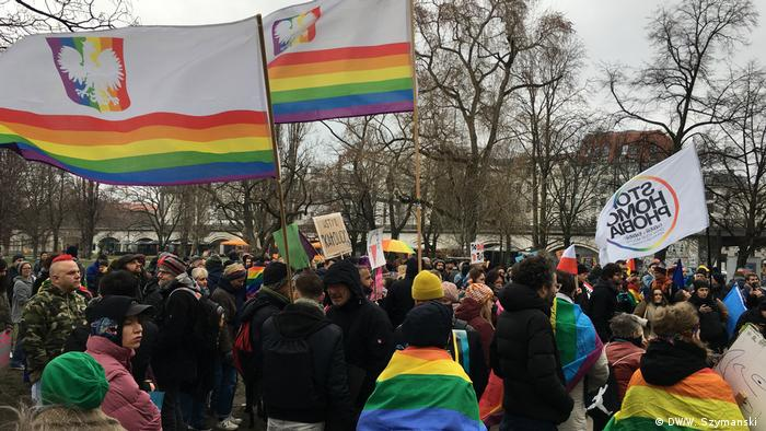 Berlin demonstration against LGBT-free Zones in Poland