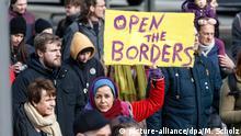 Deutschland | Demonstration für Migranten an griechisch-türkischer Grenze in Hamburg