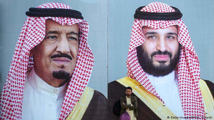 الملك السعودي سلمان بن عبد العزيز وولي عهده محمد بن سلمان