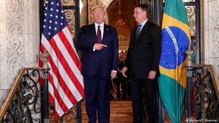 Donald Trump e Jair Bolsonaro em encontro na Flórida, em março de 2020