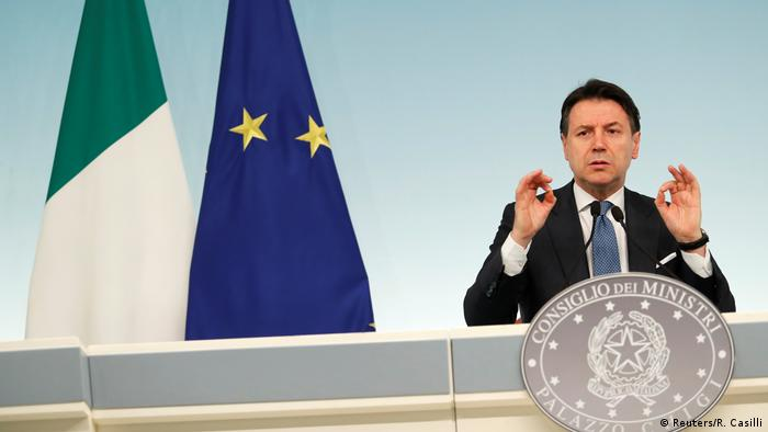 Giuseppe Conte confirmed a lockdown in northern Italy. (Reuters/R. Casilli)  - 52679816 401 - Coronavirus updates: WHO praises Italy for its 'genuine sacrifices'  - 52679816 401 - Coronavirus updates: WHO praises Italy for its 'genuine sacrifices'