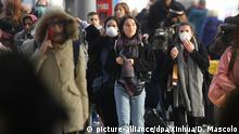 Italien Mailand Hauptbahnhof Coronavirus   Absperrung der Region Lombardei