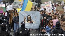 Ukraine Kiew Proteste von Frauen gegen Gewalt