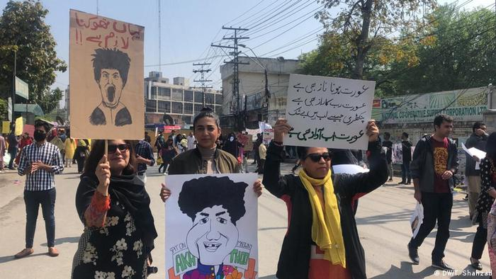 Pakistan Internationaler Frauentag | Aurat-Marsch (DW/T. Shahzad)