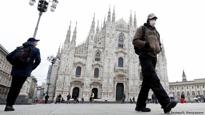 Coronavirus in Italien Mailand Dom-Platz (Reuters/G. Mangiapane)
