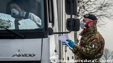 Italien Coronavirus Checkpoint in Codogno