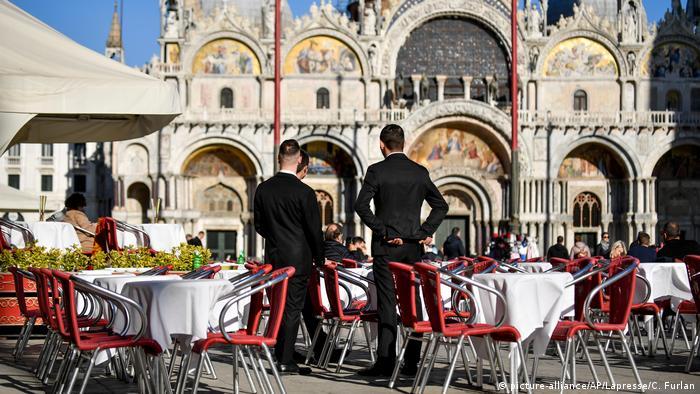 Coronavirus in Italien Venedig ohne Touristen (picture-alliance/AP/Lapresse/C. Furlan)