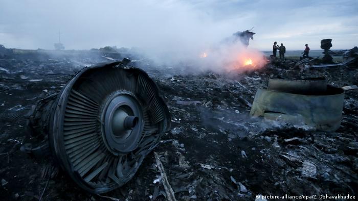Место крушения лайнера Boeing 777 авиакомпании Malaysia Airlines под Донецком в июле 2014 года