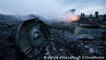 Arşiv - Malezya Havayolları'na ait MH17 numaralı Boeing 777 tipi yolcu uçağının enkazı
