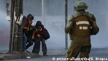 Proteste in Chile - Journalisten