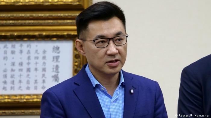 Taiwan Johnny Chiang, neuer Parteichef der Kuomintang bei einer PK in Taipei (Reuters/F. Hamacher)
