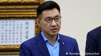 Taiwan Johnny Chiang, neuer Parteichef der Kuomintang bei einer PK in Taipei