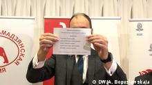 Vorwahlen der Kandidaten der Opposition in Weißrussland