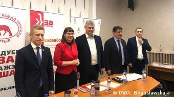 Кандидаты оппозиции на собрании в Витебске
