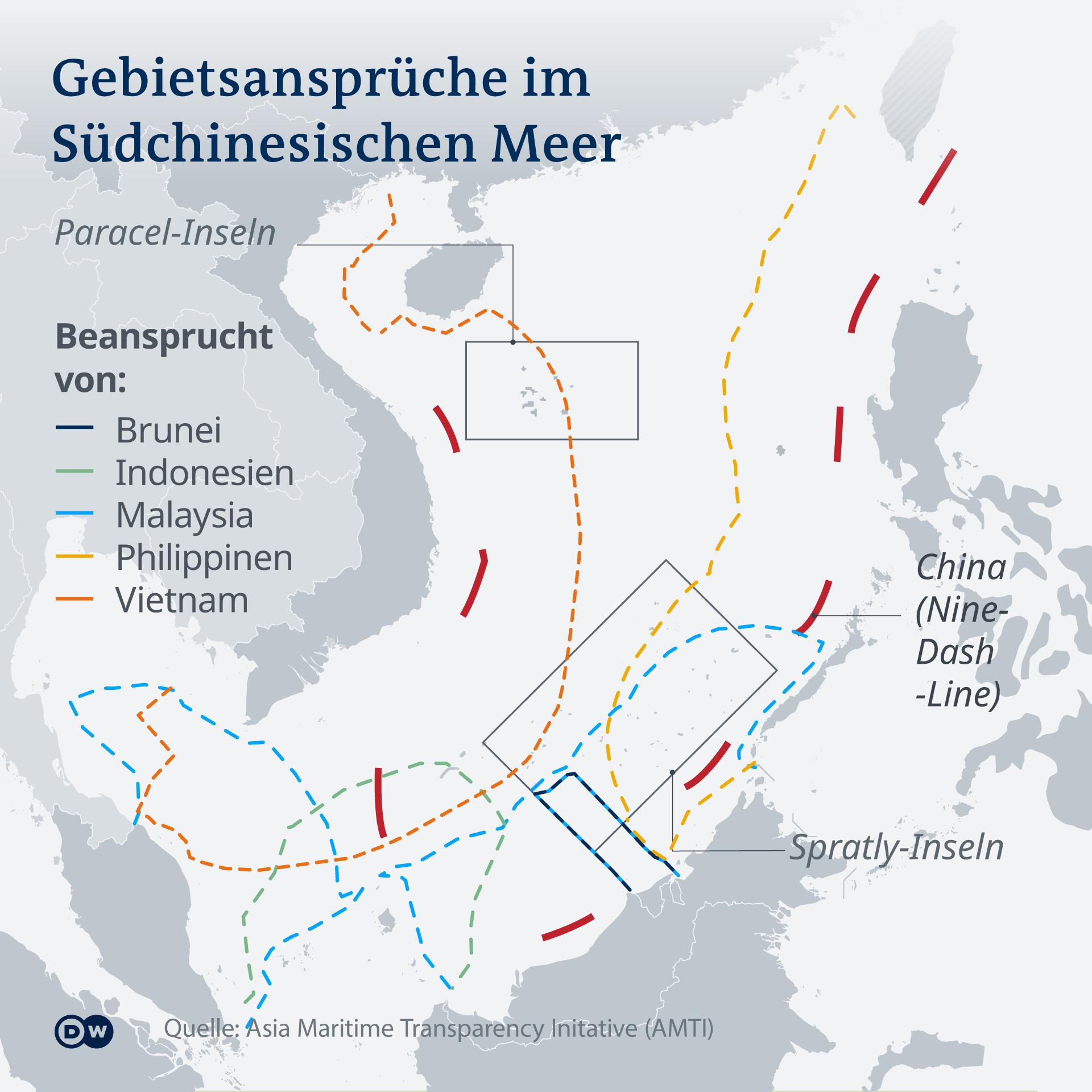 Gebietsansprüche im Südchinesischen Meer DE