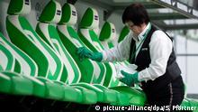 Fußball Wolfsburg Desinfektion wegen Coronavirus