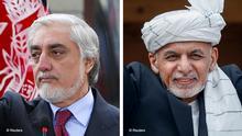 Bildkombo Abdullah Abdullah und Aschraf Ghani
