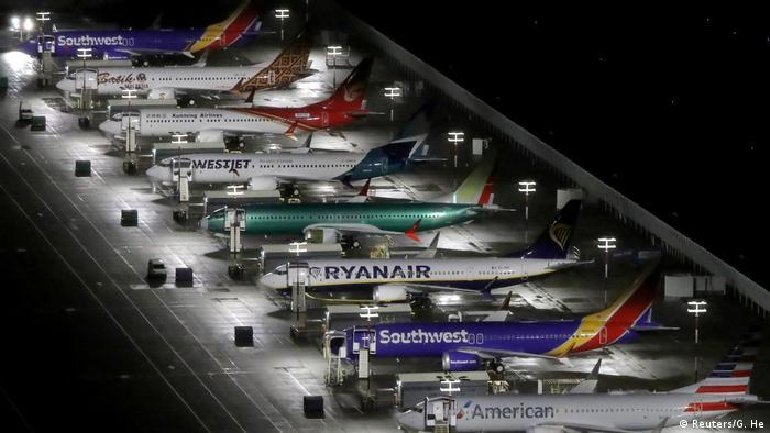Zur Auslieferung fertig, aber ohne Zulassung: 737 MAX auf dem Boeing Field (Bundesstaat Washington)