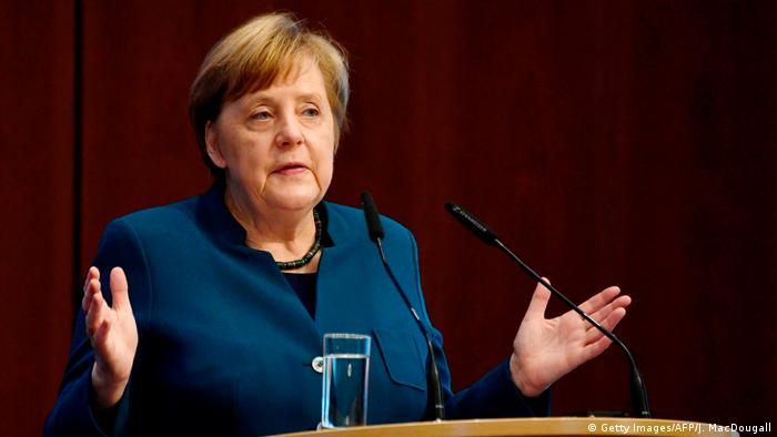 German Chancellor Angela Merkel condemned Turkey's actions at an economic forum