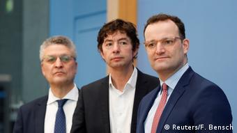 Pressekonferenz zum Thema Coronavirus (Reuters/F. Bensch)