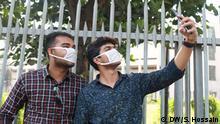 Bangladesch Coronavirus Sicherheitsvorkehrungen in Dhaka