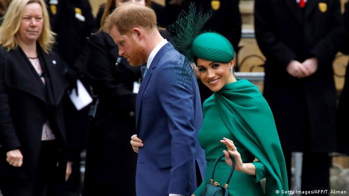 Принц Гарри и Меган Маркл в Вестминстерском аббатстве в Лондоне, 9 марта 2020 г.