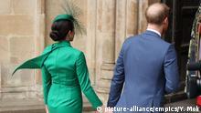 Großbritannien Commonwealth Day Harry und Meghan