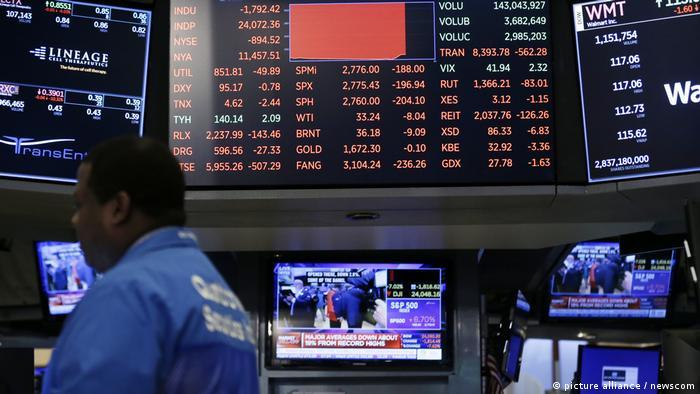 USA New York Kurse an der Wall Street